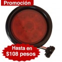 "Plafón 4"" Rojo 18 LED"